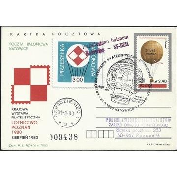 Poczta Balonowa 1980 Lot na KWF Lotnictwo