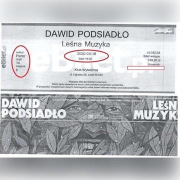 4 bilety koncert Dawid Podsiadło Łódź 18.03 g. 19