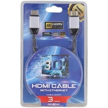 kabel HDMI premium Maxxter 3 metry