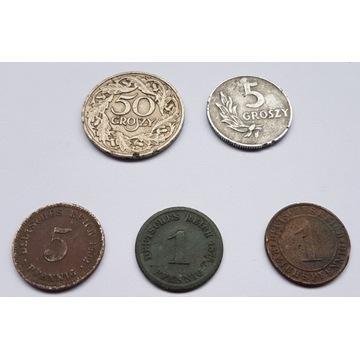 monety pfenning 1875 1902 1930 polska 1923 1949