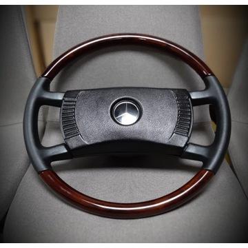 Drewniana kierownica Mercedes R107 W115 W116 W123