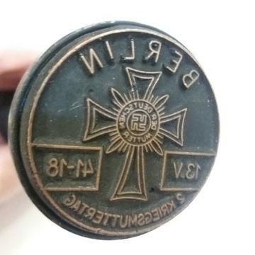 Stempel nazistowski z Krzyżem Niemieckiej Matki