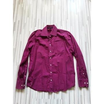 TOMMY HILFIGER r. 39 fioletowa koszula