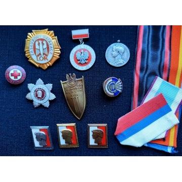 Odznaczenia, odznaki. Zestaw kolekcjonerski.