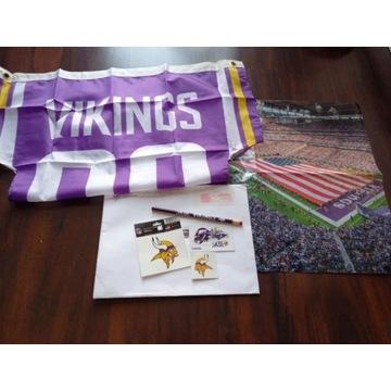 Zestaw kibica drużyny NFL Minnesota Vikings