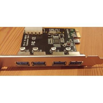 4-portowa karta PCI-E do USB 3.0