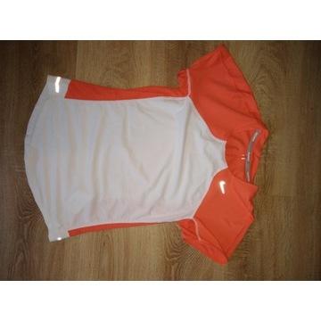 Koszulka do biegania damska biała Nike dry S