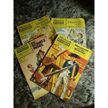 Komiks stary Illustrierte Klassiker 4 szt