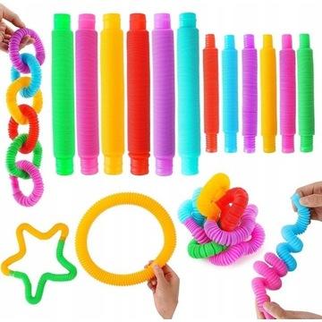Pop Tube Rury Zabawki sensoryczne antystresowe 4sz