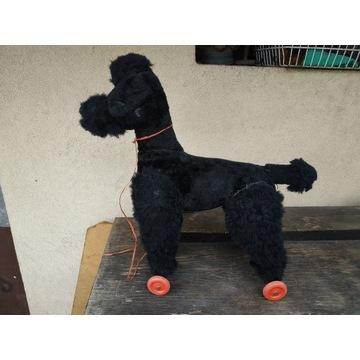 Stara zabawka pies na kołach