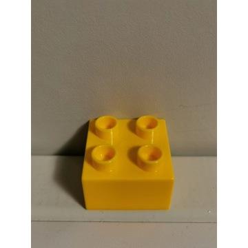 LEGO DUPLO oryginalny klocek żółty 2x2 WAWA