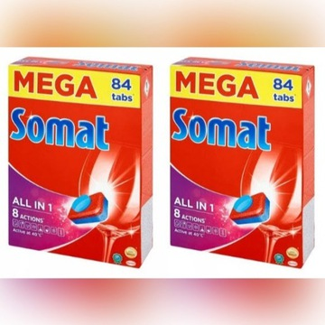 SOMAT tabletki do zmywarki MEGA 84 szt NAJTA