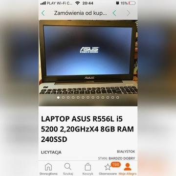 LAPTOP ASUS R556L i5 5200 2,20GHzX4 8GB RAM 240SSD