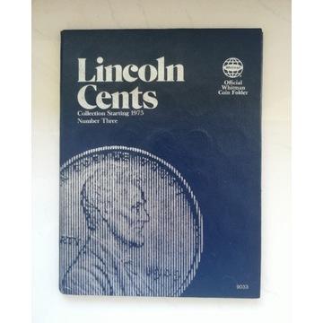 Komplet monet w klaserze Folder LINCOLN 1 cent USA
