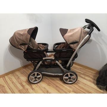 Wózek bliźniaczy Peg Perego Duette, gratis ubranka