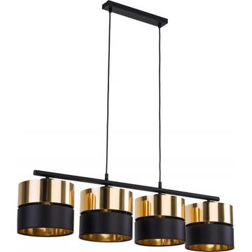 Lampa sufitowa 4 punktowa Hilton IV złoty z czarny