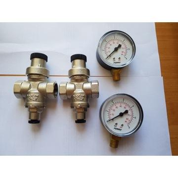 Reduktor ciśnienia 1/2'' + manometr ferro 6BAR 86p
