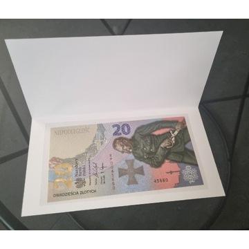 Banknoty 20zł Bitwa Warszawska + 50zł JP II