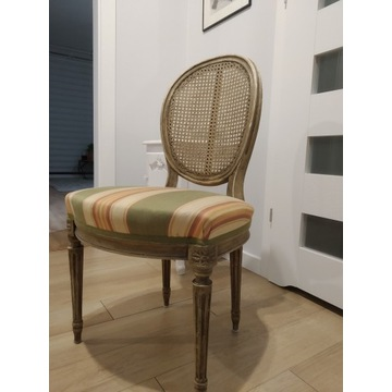 Krzesła 4 lub 6 sztuk Vintage Pasy Stylowe Komplet