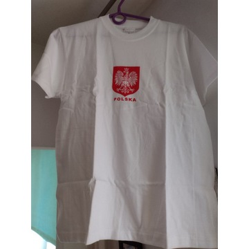 Koszulka (T-shirt) z godłem Polski (Junior L)