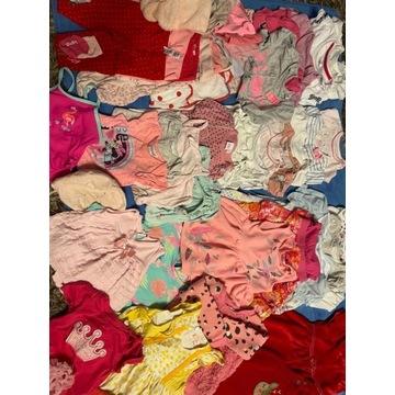Mega paka ubrań dla dziewczynki w wieku do 1 roku