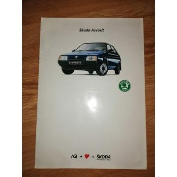 SKODA FAVORIT Folder Prospekt Katalog reklamowy