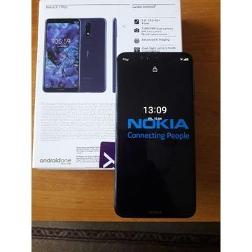 Nokia 5.1 Plus Dual Sim-niebieski (etui 2 szt)