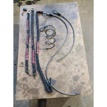 Pakiet 6 lin/łańcuchów do blokady Axa, Trelock