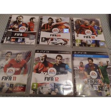 Zestaw Fifa PS3 6 gier
