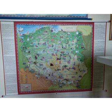 Polska - mapa ścienna dla dzieci 100x140 cm