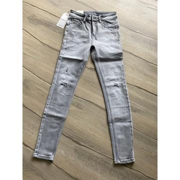 Basic push up letnie jeansy szare  model 2020
