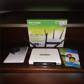 TP Link Gigabit Router WR1043ND + antena