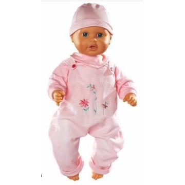 Ubranka dla lalek różowe spodnie na szelkach 42-48
