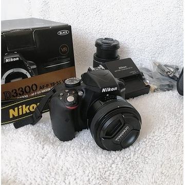 Nikon D3300 50mm F1.8 obiektywy akcesoria