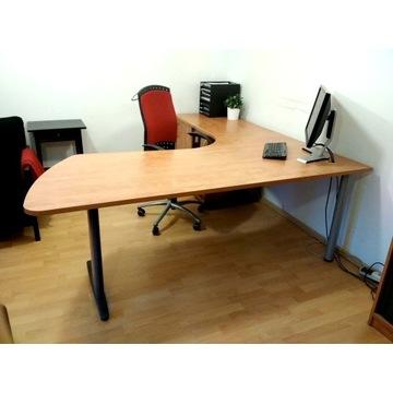 Zestaw mebli biurowych, biurko, regały, szafki