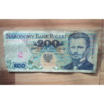 Banknot PRL 200 zł Dąbrowski