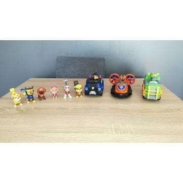 Sprzedam pojazdy Psiego Patrolu plus figurki