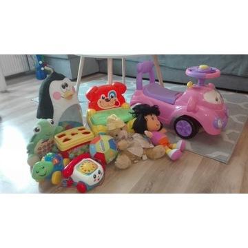 Zestaw zabawek edukacyjnych + samochodzik biegowy