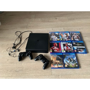 Playstation 4 Slim 1TB+2pady+8gier