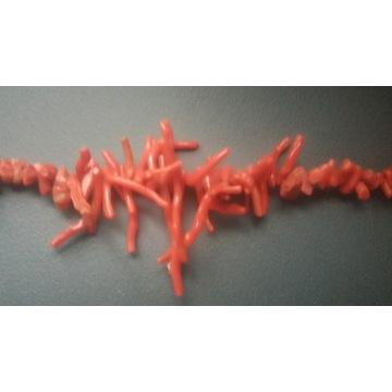 Naszyjnik koral naturalny gałązki