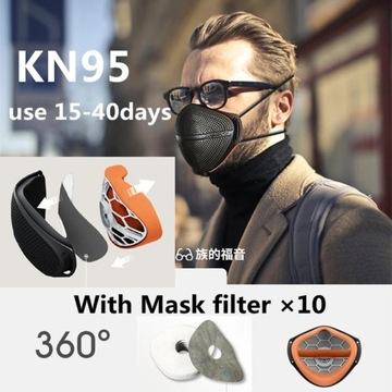 NOWOŚĆ Maska ochronna antysmogowa FFP2 N95 PM2.5