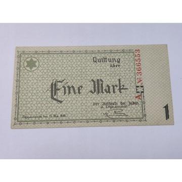 1 marka 1940, Eine Mark 1940 Getto 6 cyfr