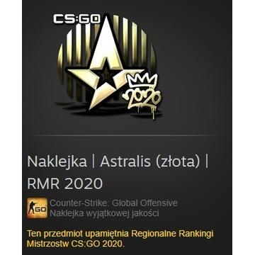 Naklejka CS:GO Astralis (złota) RMR 2020