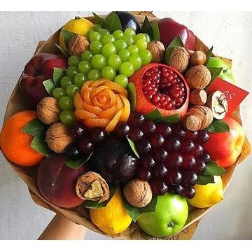 Bukiet z owoców i orzechów na każdę wydarzenie