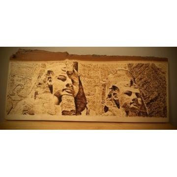 Pirografia -Egipt - decha topolowa. Rękodzieło.