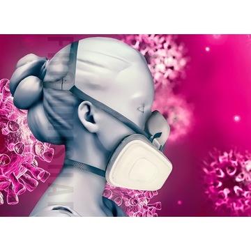 3M Maska 6200 Set z 5935 Wielorazowa P3 antywirus