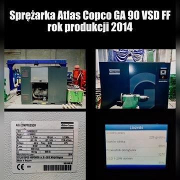 "Kompresor   Sprężarka  ""Atlas Copco GA 90 VSD FF"""