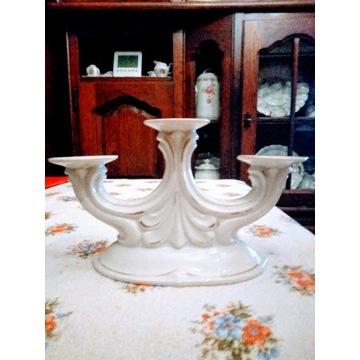 Kandelabr porcelana