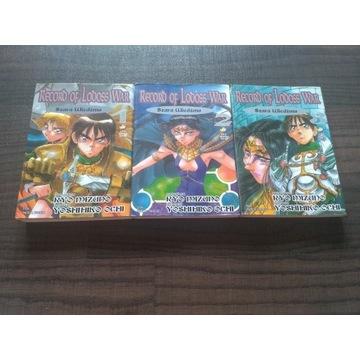 manga Record of Lodoss War komplet 3 tomów