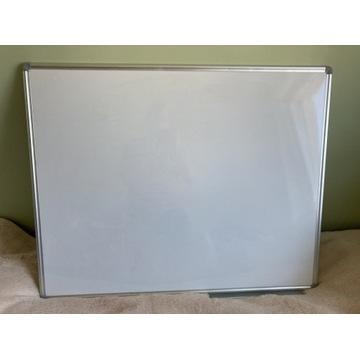 Biała tablica magnetyczna suchościeralna 100x80 cm